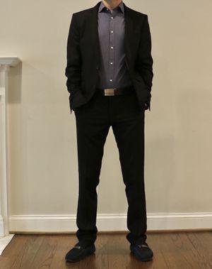 Mens Suit - Zara Denim Couture, Black, 42 Jacket, 31x32 Pants for Sale in Fairfax, VA