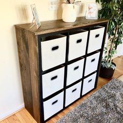 "47"" Oak-finished Storage Organizer [BINS INCLUDED] for Sale in Philadelphia,  PA"