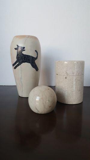 Marble decor- vase, box, ball for Sale in Miramar, FL