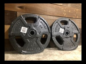 """Brand new Weider pair (2) standard 1"""" 25 lb weight plates set (not negotiable) for Sale in Chula Vista, CA"""