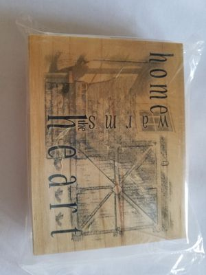 Home warms the heart rubber stamp for Sale in Chicago, IL