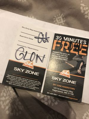 Sky Zone Glow Night Passes for Sale in Hagerstown, MD