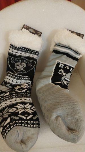 NFL Raider socks thick plush for Sale in Fresno, CA