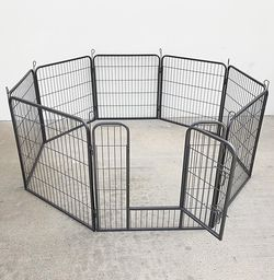 """$90 (new in box) heavy duty 8-panel dog playpen, each panel 32"""" tall x 32"""" wide pet exercise fence crate kennel gate for Sale in Pico Rivera,  CA"""