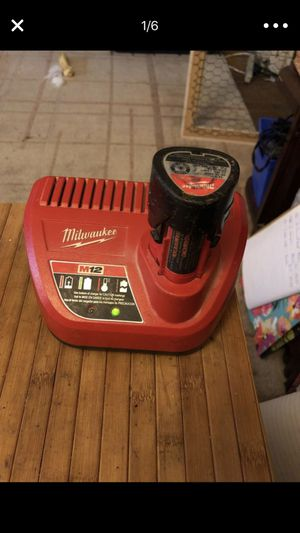 Milwaukee m12 12v Charger & one battery for Sale in Portland, OR