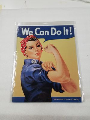 Rosie riveter we can do it metal sign for Sale in Vancouver, WA