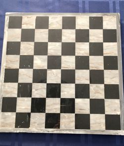"Handmade Marble Stone (grey/black) Chess Checkers Game Board 13 3/4X13 3/4"" for Sale in Warwick,  RI"