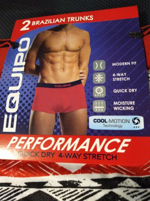 MENS EQUIPO MICROFIBER SOFT CONTROL LOW RISE TRUNKS UNDERWEAR SIZE: L for Sale in Queens, NY