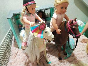 Our generation Dolls and horses OG barn stables for Sale in Denver, CO