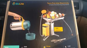 Bio lite portable campstove, creates and stores energy\ while cooking for Sale in Puyallup, WA