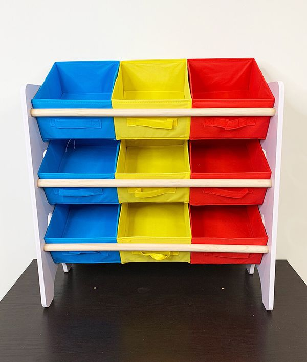 "$25 NEW Small Kids Toy Storage Organizer Box Shelf Rack Bedroom w/ 9 Removeable Bin 24""x10""x24"""