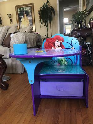 Kids little mermaid desk for Sale in Downey, CA