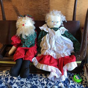 Santa And Mrs Claus Cloth Doll Large for Sale in Stanwood, WA
