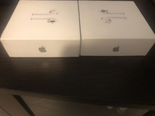 Empty box for AirPods apple.