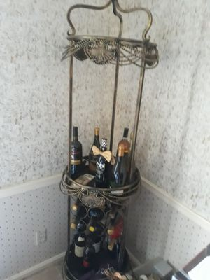 Metal Wine Rack,,REDUCED for Sale in Cleveland, OH