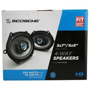 Scosche #HD57684 5x7/6x8 4-Way Speakers 200 Watts for Sale in Spokane, WA
