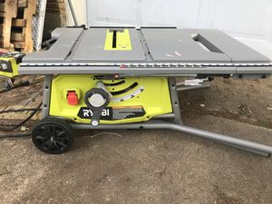 "Ryobi 10"" Table Saw w Rolling Stand for Sale in Dallas, TX"