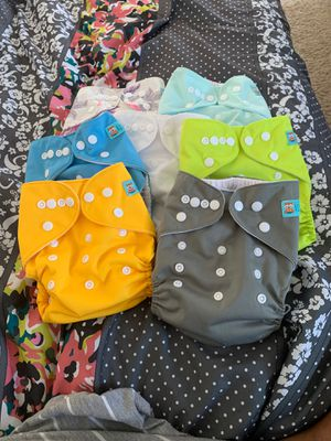 7 Barely Used Alva diapers Excellent condition for Sale in Chesapeake, VA