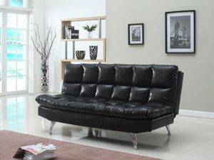 Brand new black leather adjustable futon $200 for Sale in Richmond, VA