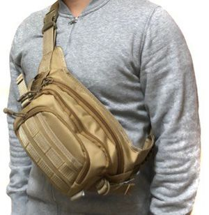 Brand NEW! Tan Tactical Waist/Crossbody/Side Bag/Fanny Pack/Pouch For Hiking/Biking/Fishing/Camping/Traveling/Outdoors/Sports/Gym for Sale in Carson, CA