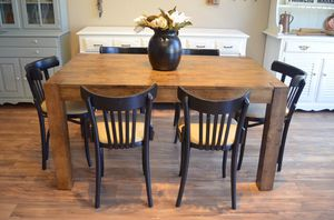 Black and wood dining set for Sale in San Diego, CA