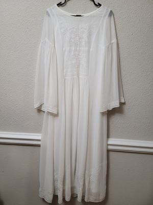 White Boho style dress never worn for Sale in Columbia, MD