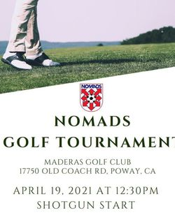Maderas Nomads Golf Tournament 2021 for Sale in San Diego,  CA