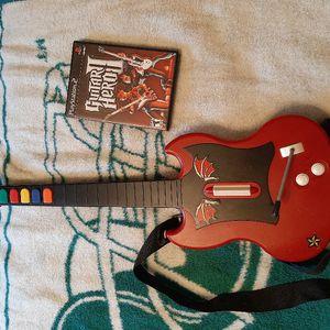 Guitar Hero II Bundle Playstation 2 (Guitar And PS2 game) for Sale in Dallas, TX