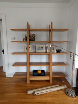 Dania high end, contemporary, classic shelf. Still selling $1600. Like new! bookshelves shelf bookcase display case for Sale in Portland, OR