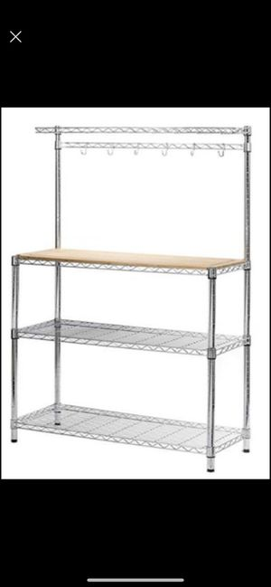 STORAGE MANIAC 4-Tier Adjustable Kitchen Bakers Rack Kitchen Storage Shelving for Sale in Santa Fe Springs, CA
