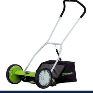 Greenworks 16 Inch Reel Lawn Mower ( Missing Hardware ) ( New) for Sale in Las Vegas, NV