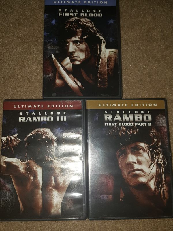 Rambo Parts 1-3 (Like new dvds)
