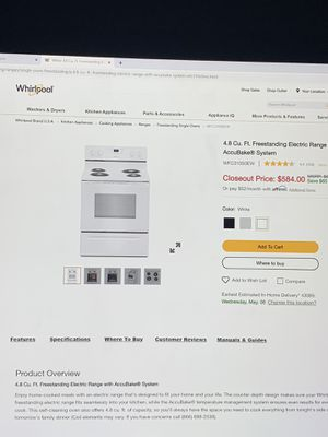 New Whirlpool Range, Dishwasher and range hood for sale. - $700 OBO for Sale in Blacklick, OH