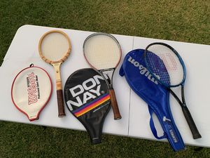 Vintage Tennis rackets including wood Wilson Jack Kramer autograph for Sale in Whittier, CA