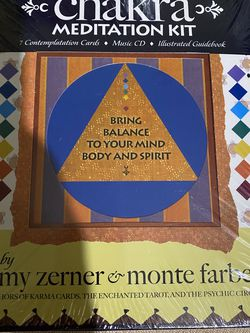 CHAKRA MEDITATION KIT Bring Balance to Your Mind, Body Spirit (Book, Cards, CD) for Sale in City of Industry,  CA
