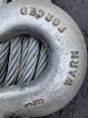 "3/8"" Warn Winch Cable with hook for Sale in Orangevale, CA"