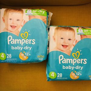 Pampers Baby Dry Diapers Size 4 (28count) for Sale in Silver Spring, MD