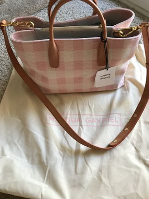 Brand new Mansur Gavriel pink checker bag with strap for Sale in Richmond, CA