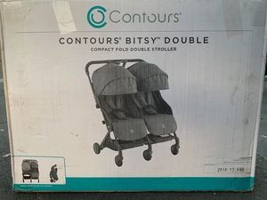 Contours Bitsy Double Compact Fold Double Stroller for Sale in Westminster, CA