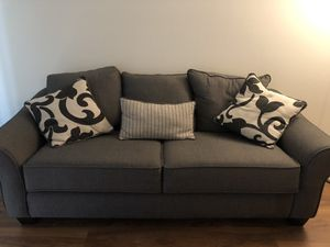 Couch with never used pullout bed - like new! for Sale in Lincolnia, VA