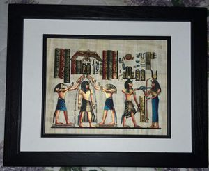 Egyptian hand painting on papyrus for Sale in Rock Hill, SC
