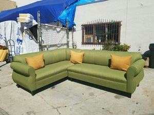 NEW 7X9FT PAULINE LIME FABRIC SECTIONAL COUCHES for Sale in Lemoore, CA