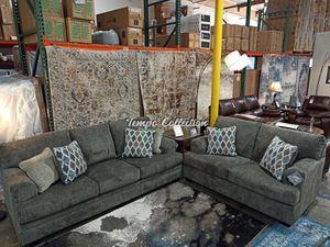 2 PC Sofa and Loveaseat Set, Brownish Grey, SKU# ASH7720435/38TC for Sale in Santa Fe Springs, CA