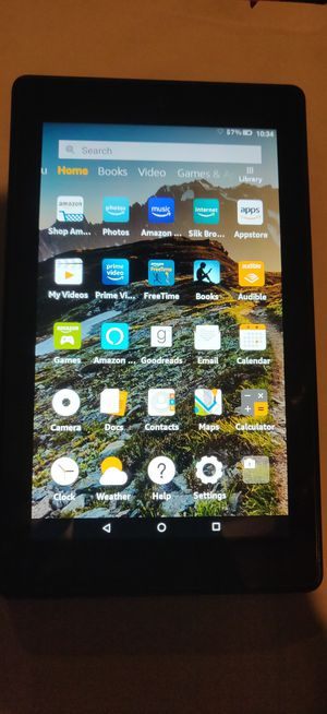 Amazon Fire 7 tablet 9th Generation 16gb with case for Sale in Philadelphia, PA