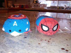 Disney Spider-Man & Captain America Tsum Tsum Plush Toys for Sale in Puyallup, WA