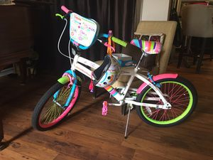 Girls assembled brand new bike and matching helmet. UPDATE. Bike has been stored outside since move. So it looks worn now. Best offer. for Sale in Atlanta, GA