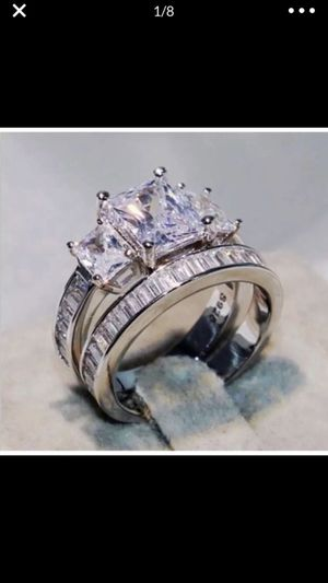 Stimulated diamond wedding engagement ring women's jewelry accessory size 7 for Sale in Silver Spring, MD