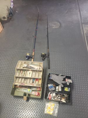Fishing gear rods, reels, tackle boxs and more for Sale in Chandler, AZ