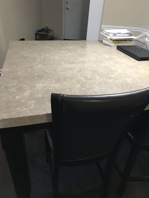 Granite top dining table with 4 chairs and a Bench for Sale in Fairfax, VA