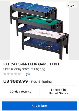 """Fat cat 3 in 1 game table """"brand new"""" for Sale in Suisun City, CA"""